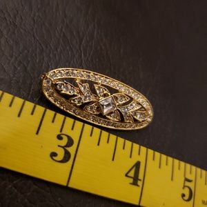 Napier Oval Gold Toned Brooch